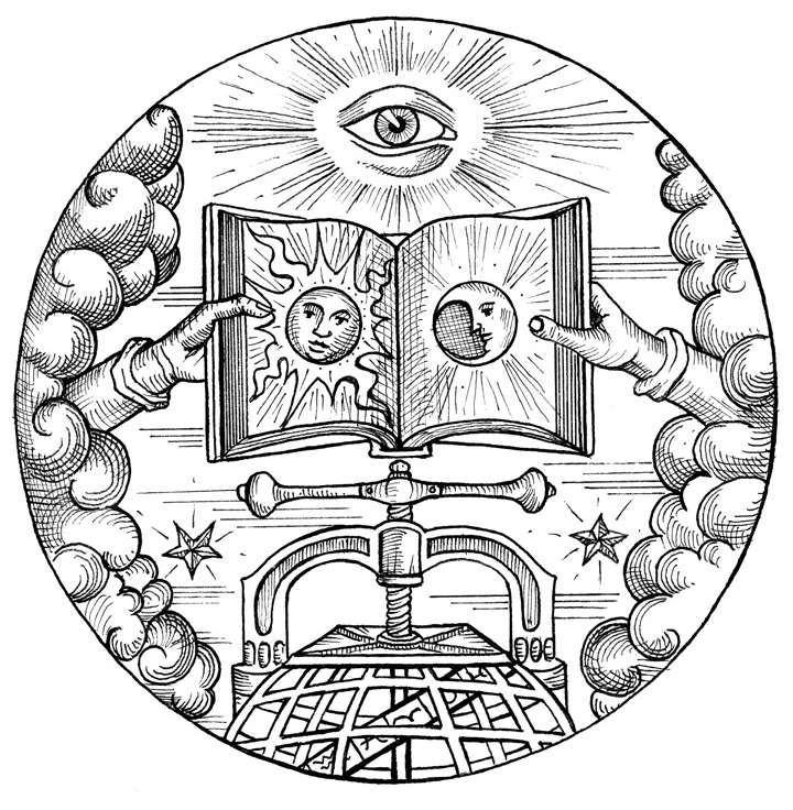 The Esoteric Book Conference seal. Art by Benjamin Vierling