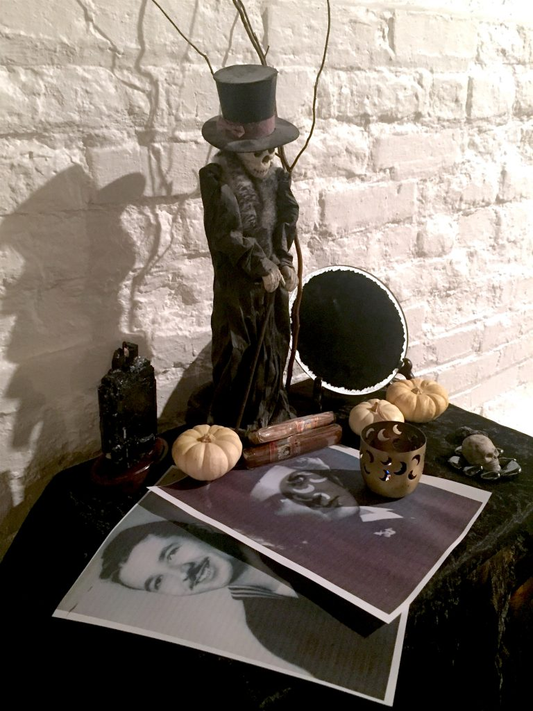 Samhain altar for Death and Ancestors