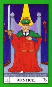 a tarot card