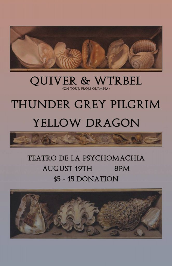 Thunder Grey Pilgrim with Quiver & Wtrbel (Oly), and Yellow Dragon