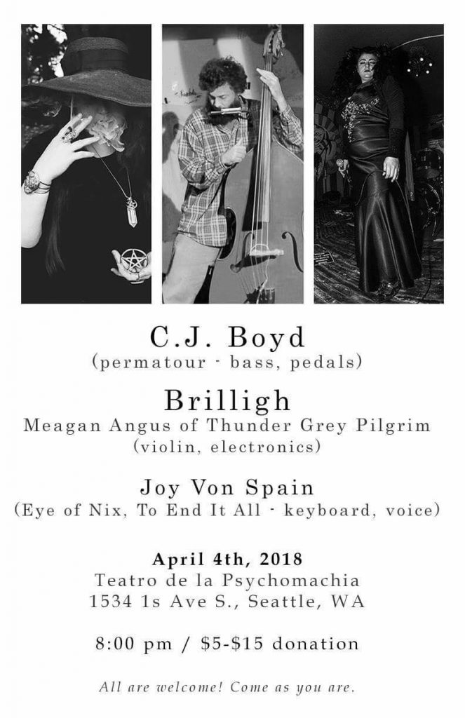 Brilligh – April 4 with CJ Boyd and Joy Von Spain